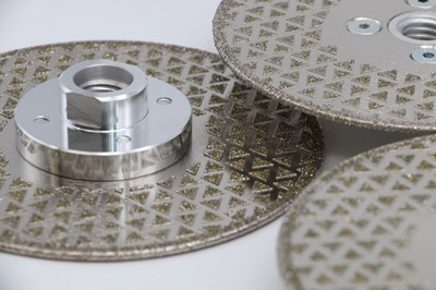 Electroplated diamond cutting blades grinding wheels