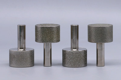 Electroplated diamond mounted points, diamond pins